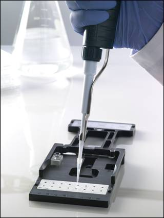 Take3™ plate with 16 microspots (2 µL) for micro-volume measurements