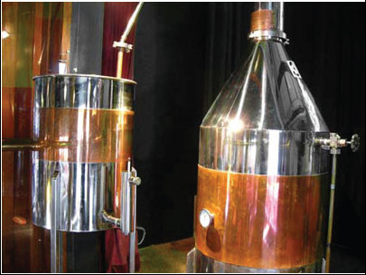 Copper Distillation Kettles.