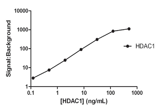 HDAC1 concentration optimization data.