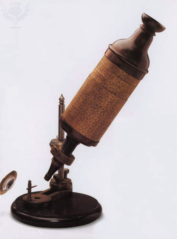 A replica of Hooke's compund microscope