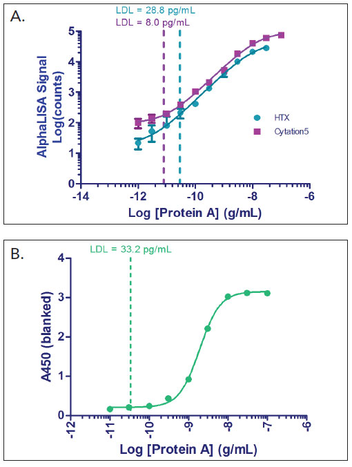 Protein A Standard Curve.