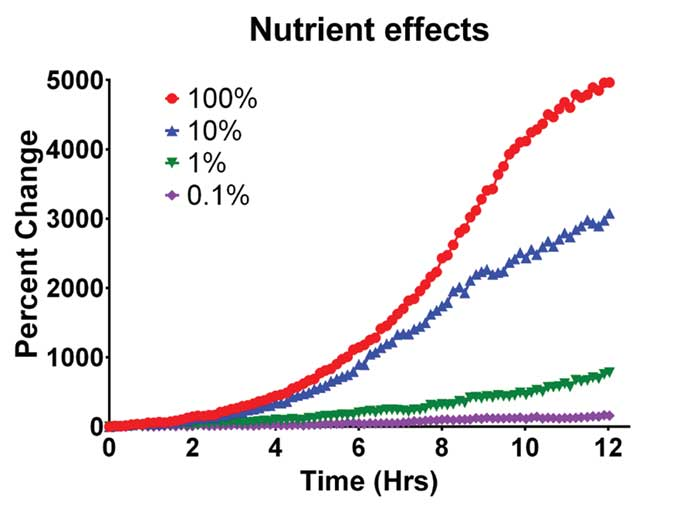 Effect of Nutrient Concentration on Yeast Cell Growth.