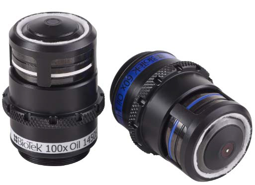 Oil-immersion objectives available for use with the Lionheart FX.