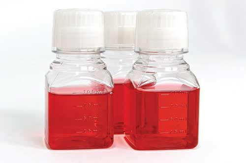 Typical Tissue Culture Media with Phenol red.