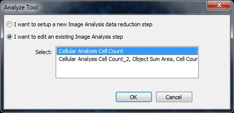 Edit existing Image Analysis step