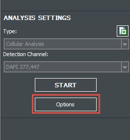 Analysis Options button