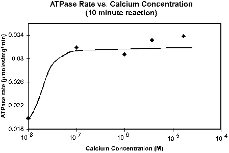 Calcium dependence of ATPase Activity.