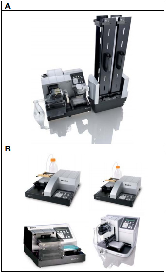 Multi-component manual assay and EL406 semiautomated