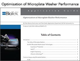 Washer Performance App guide